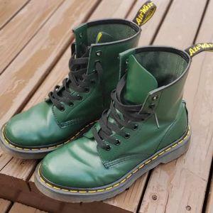 Dr. Martens Boots Dark Green Sz 7